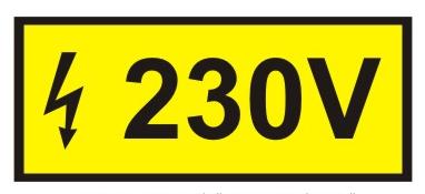 Eticheta priza 220 - 230 V